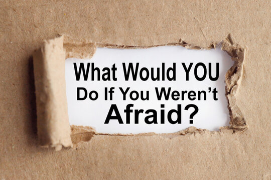 what would you do if you weren't afraid. Motivation word concept