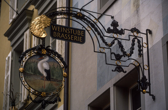 enseigne, Lucerne, canton de Lucerne, Suisse