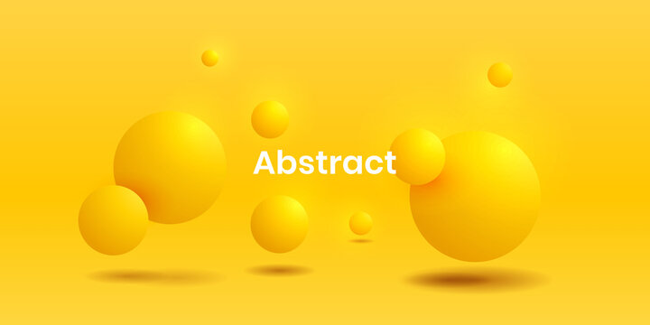 Abstract fluid vibrant gradient 3d yellow circle realistic backgorund