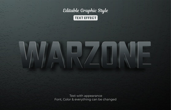 Warzone battlefield Editable Text Effect