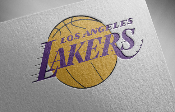los-angeles-lakers-1 on paper texture