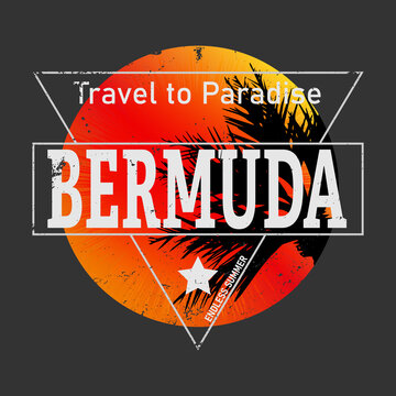 bermuda triangle tee graphic on a dark background vector design