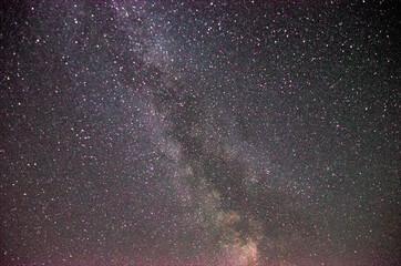 Visión de la Vía Láctea en una noche cerca del Observatorio del Montsant. Wall mural