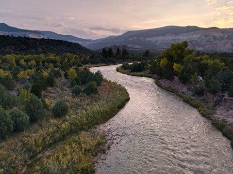 Rio Chama River Valley in New Mexico