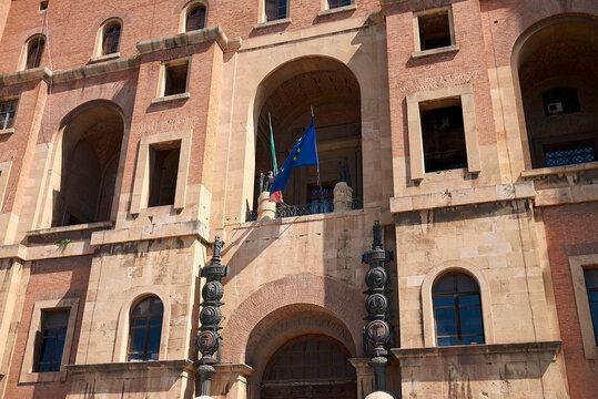 Taranto, Italy - September 06, 2020 : View of Palazzo del Governo