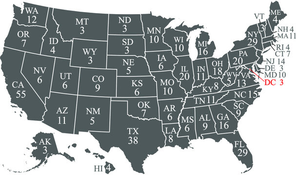 US electoral college votes by state