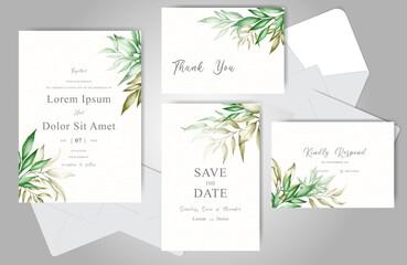 Wedding Invitation card bundle template Wall mural