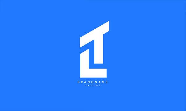 Alphabet letters Initials Monogram logo LT, TL, L and T