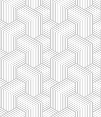Vector geometric seamless pattern. Modern geometric background with intersecting blocks.