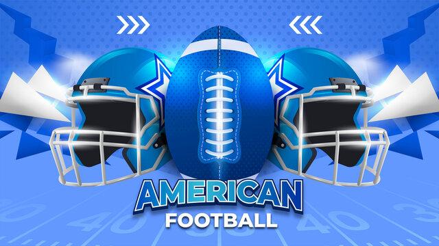 Blue American Football Background