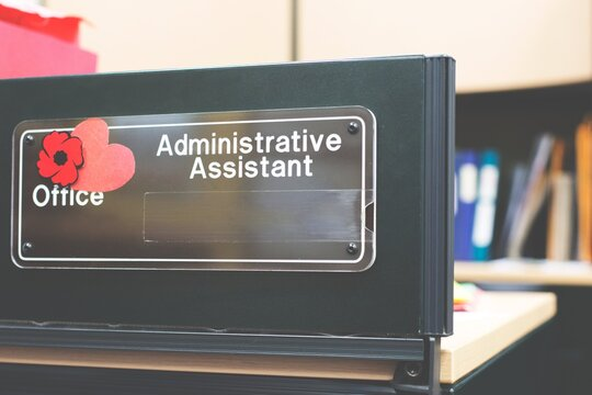 administrative assistant sign