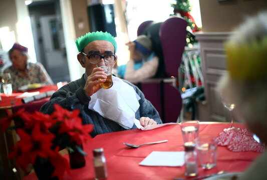 Christmas Day in a London care home