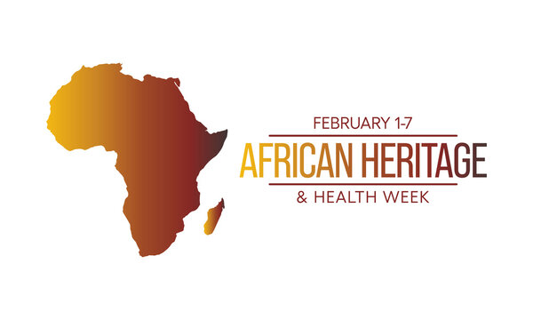 Vector illustration on the theme of African Heritage and Health week observed each year from 1st to 7th January.