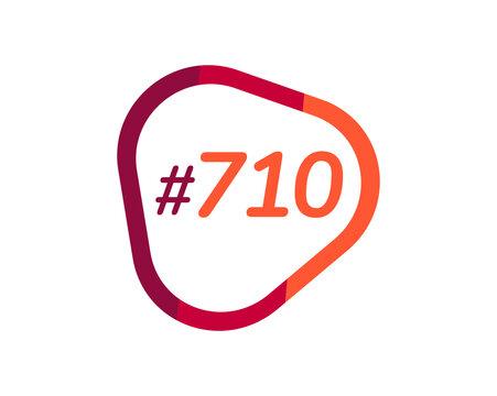 Number 710 image design, 710 logos