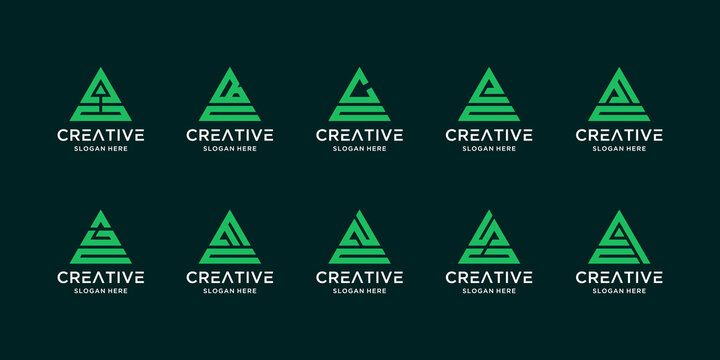 Creative collection of letter c logos and others
