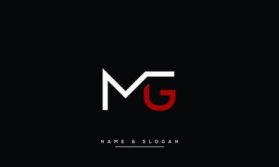 Fototapeta MG ,GM  Abstract Letters Logo Monogram obraz