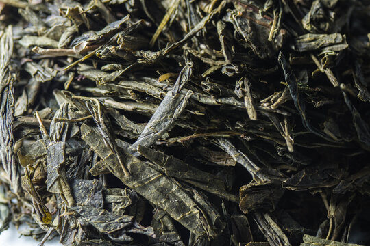 dried tea leaves, Sencha