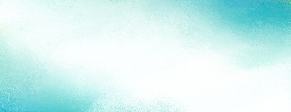 Blue corner design on white background, soft gradient colors and abstract cloudy texture