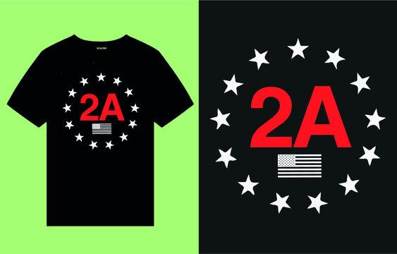 American 2nd amendment -t shirt design vector