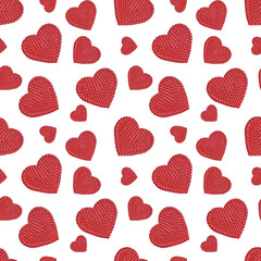 Hearts seamless pattern background. Background romantic design for celebrations, wedding invitation, mothers day and valentines day