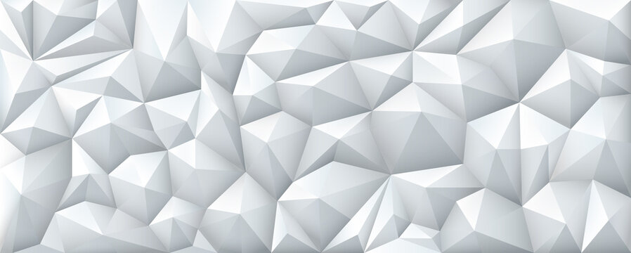 Polygon Abstract Polygonal Geometric Triangle Background, vector illustration wide.