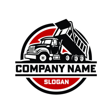 Dump truck ready made logo template