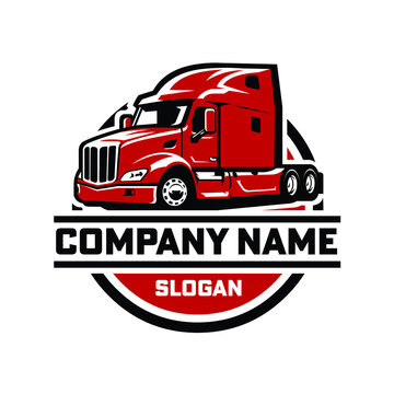 Semi truck - 18 wheeler ready made logo template