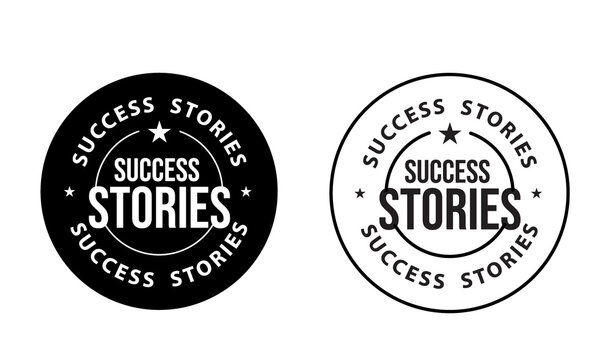 SUCCESS STORIES STAMP VECTOR, SHARE YOUR SHORY ABSTRACT