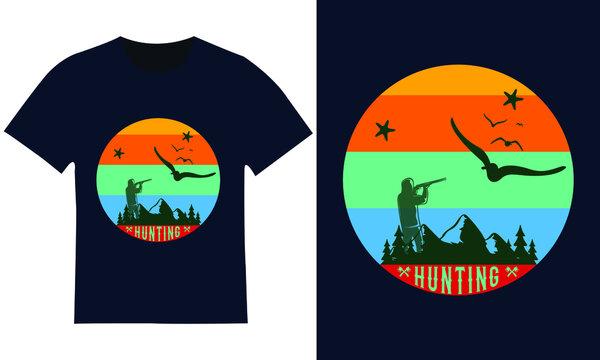 Custom and trendy hunting t-shirt design