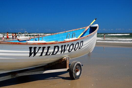 Lifeguard boat at Wildwood, NJ