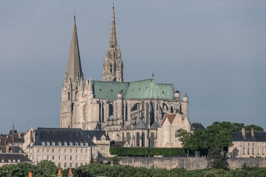 Hochgotische Kathedrale von Chartres in Frankreich