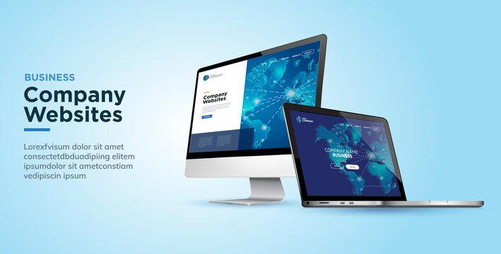 Web design template business