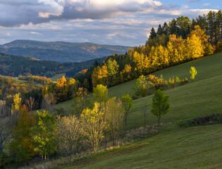 autumn in Jesniky, Jeseniky, northern Moravia, Czechia