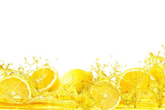 splash of lemon slice