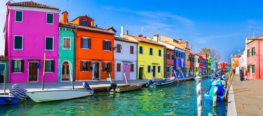 Traditional fishing town (village) Burano - Island near of Venice. Italy,Veneto 31.10.2020