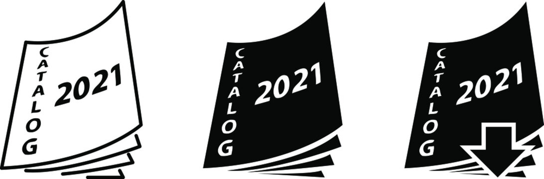 2021 catalog icon, vector line illustration