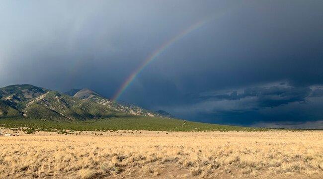 Rainbow Over Little Bear Peak near Alamosa Colorado Taken July 2020