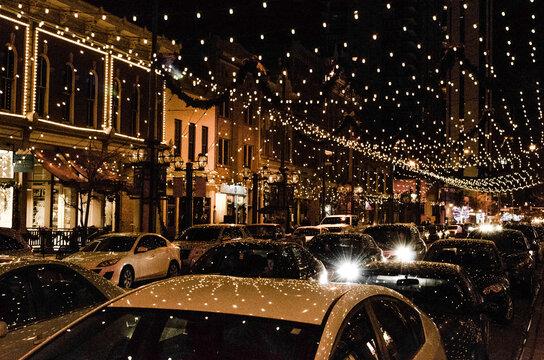 Denver at nighttime