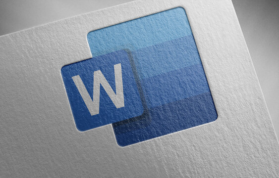 word-1 on paper texture