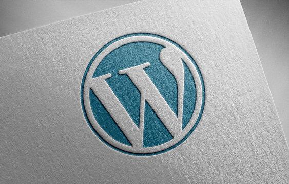 wordpress-blue_1 on paper texture