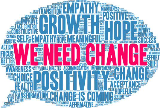 We Need Change Word Cloud on a white background.