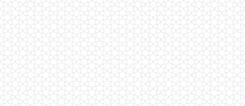 Abstract geometric seamless pattern in traditional Arabian style. Subtle vector ornament with thin lines, oriental mosaic, floral grid. Minimal modern background. Repeat design for decor, wallpaper