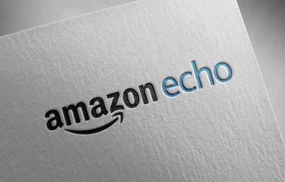amazon-echo on paper texture