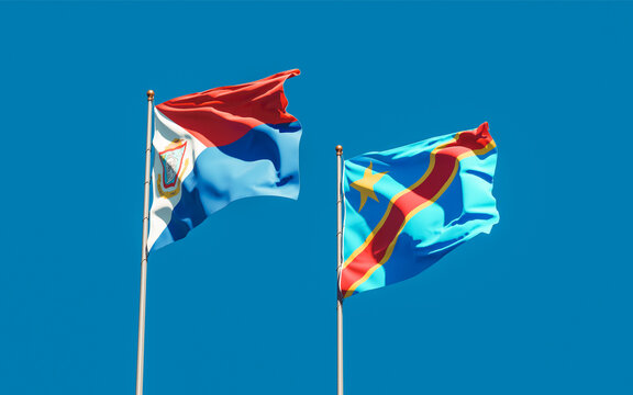 Flags of Sint Maarten and DR Congo.