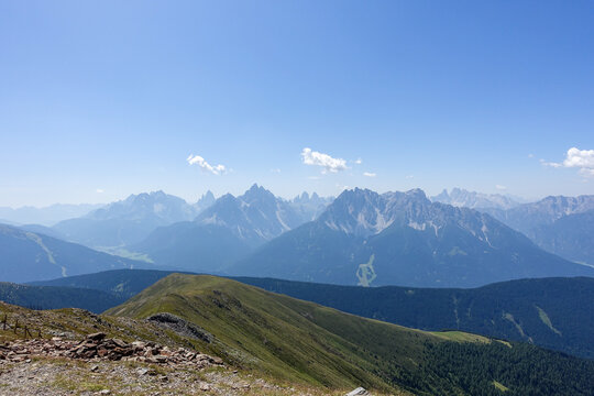 Panoramic view of the german alps