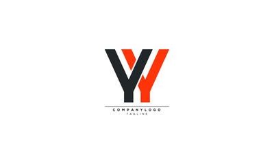 Fototapeta YY YW YWY  Abstract initial monogram letter alphabet logo design obraz