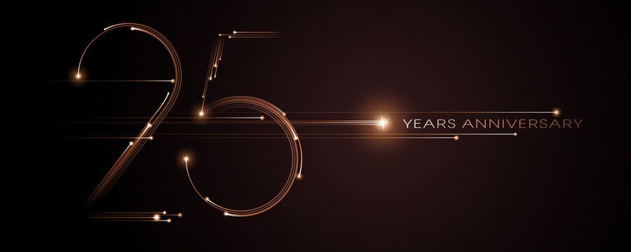 25 years anniversary vector icon, logo. Graphic design element