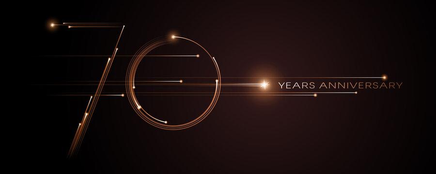 70 years anniversary vector icon, logo. Graphic design element
