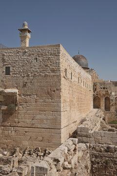 Al-Aqsa (el-marwani) solomons stables mosque in Old City of Jerusalem in Israel