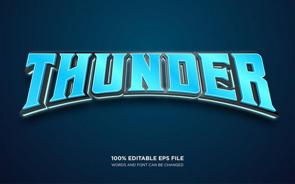 Thunder editable text style effect